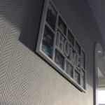 glasvezelbehang met latex zilvergrijs